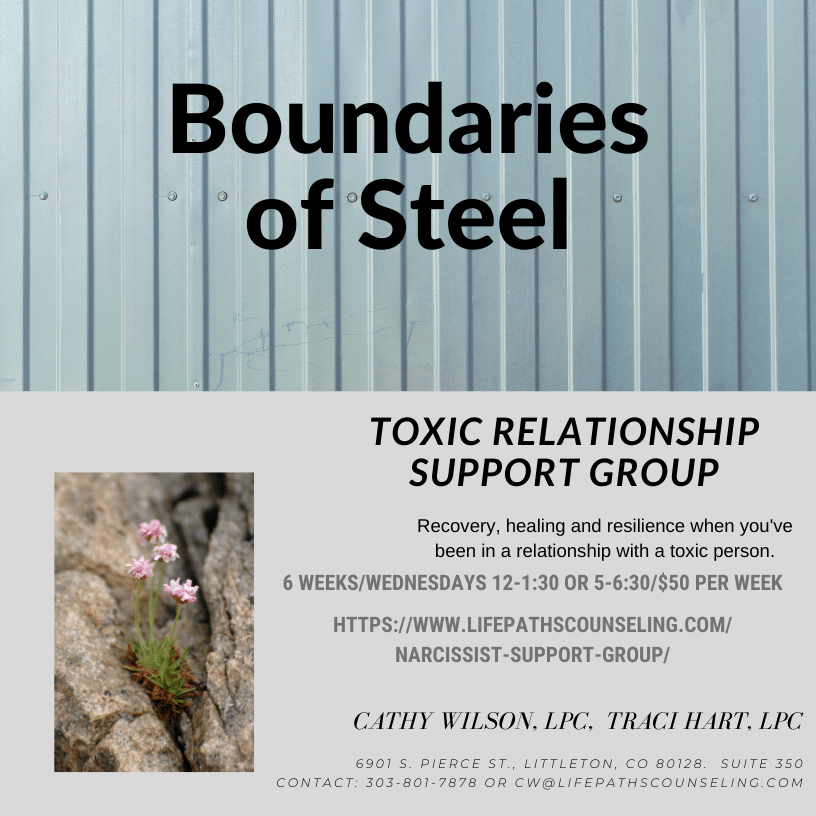toxic relationship support group boundaries of steel